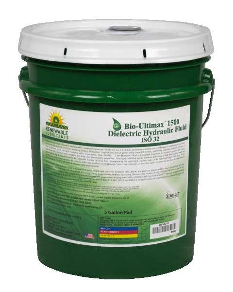81054 Bio Ultimax 1500 Dielectric Hydraulic Fluid ISO 32 5 Gal